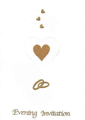Golden love Evening Invitation