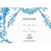 Baby Blue Vintage Wedding Invitation