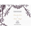 Burgundy Brown Vintage Garden Wedding Invitation