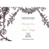 Chocolate Garden Vintage Wedding Invitation