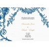 Deep Blue Vintage Garden Wedding Invitation